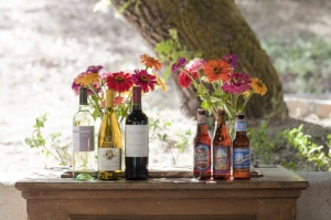 36-wine-beer-flowers-outdoors-gerbera-flowers-vintage