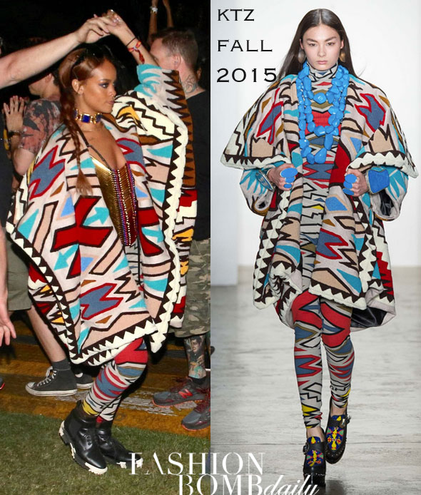 rihanna-coachella-ktz-spring-2015-printed-poncho-and-matching-leggings