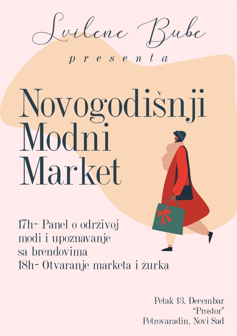 Svilene Bube - Novogodišnji market održive mode plakat